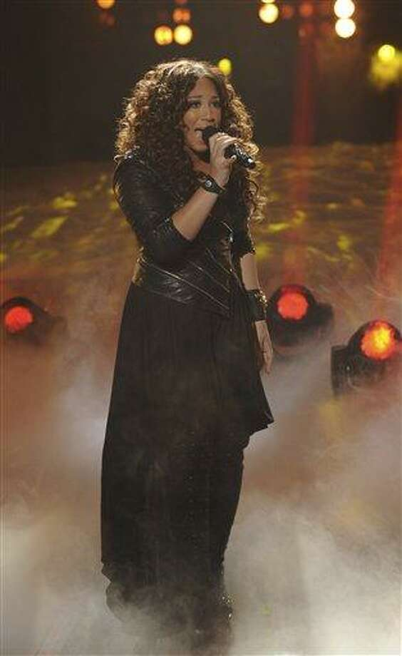 "In this file photo released by FOX, Melanie Amaro performs on the singing competition series, ""The X Factor,"" in Los Angeles, where contestants sang songs by Michael Jackson for a tribute to the late King of Pop. Photo: AP / AP2011"