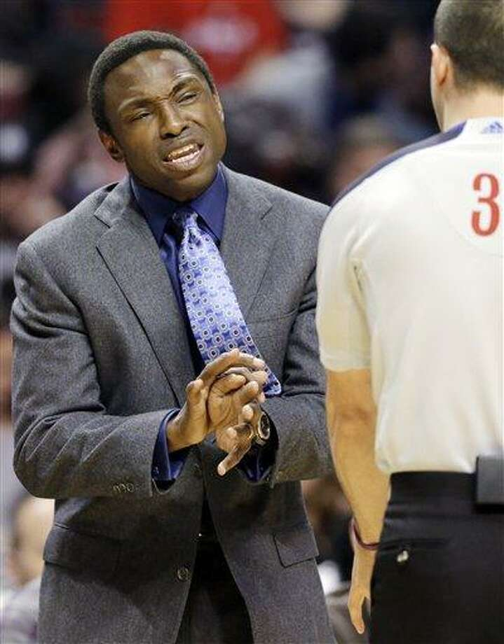FILE - In this Dec. 15, 2012, file photo, Brooklyn Nets head coach Avery Johnson, left, reacts to a call during the first half of an NBA basketball game against the Chicago Bulls in Chicago. Johnson was fired on Thursday, Dec. 27, 2012, general manager Billy King announced. (AP Photo/Nam Y. Huh, File) Photo: ASSOCIATED PRESS / A2012