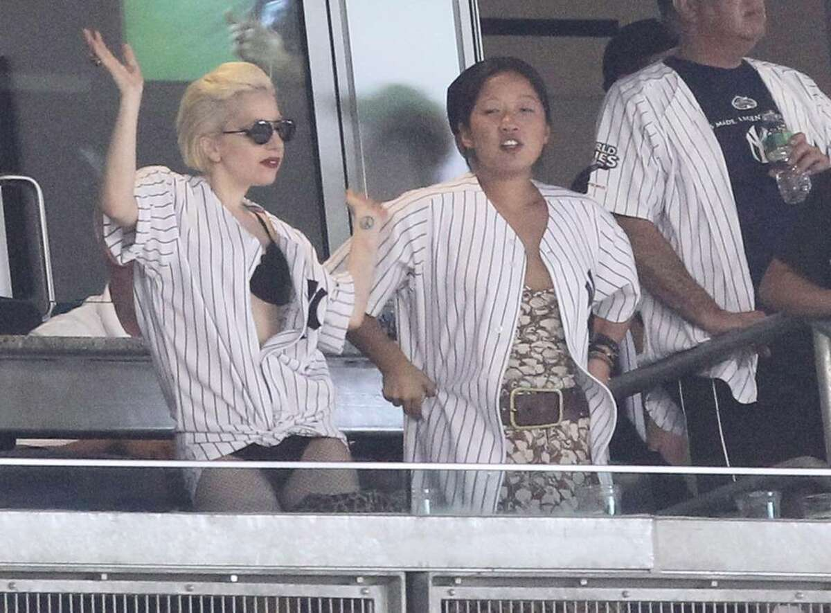 NEW YORK - JUNE 18: Lady Gaga attends the game between the New York Yankees and the New York Mets during their game on June 18, 2010 at Yankee Stadium in the Bronx borough of New York City. (Photo by Al Bello/Getty Images) *** Local Caption *** Lady Gaga
