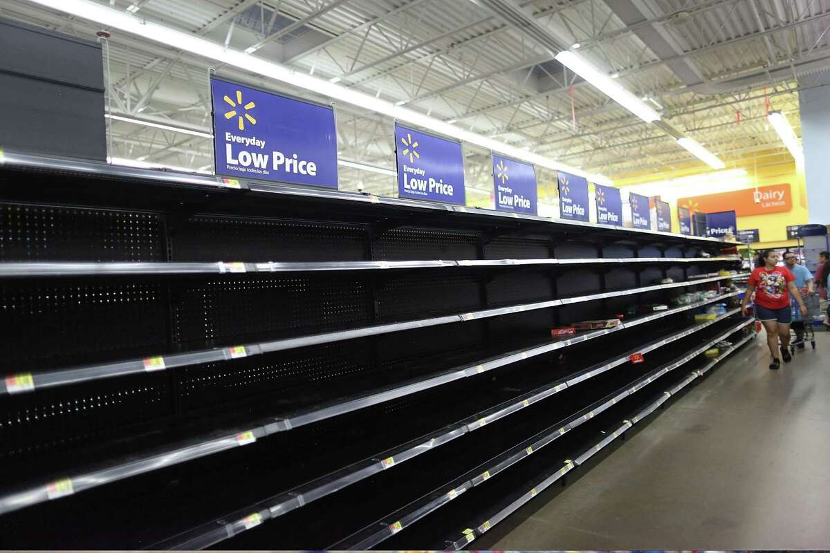 About 87 Walmart locations and distribution centers, including 31 stores in Houston, have closed throughout the state as of Monday afternoon because of Harvey.