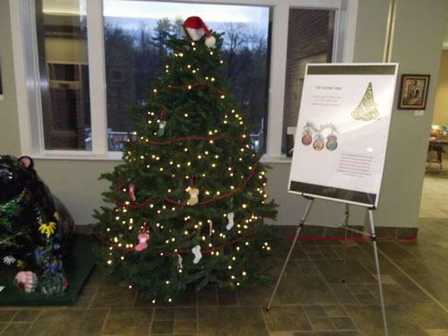 Sarah Bogues/Register Citizen The organizers of New Hartford's annual appeal, the Giving Tree, will be collecting gift card and/or toy donations for needy families in the community. The Giving Tree is located in the lobby of Town Hall and will be up until the end of the holiday season.