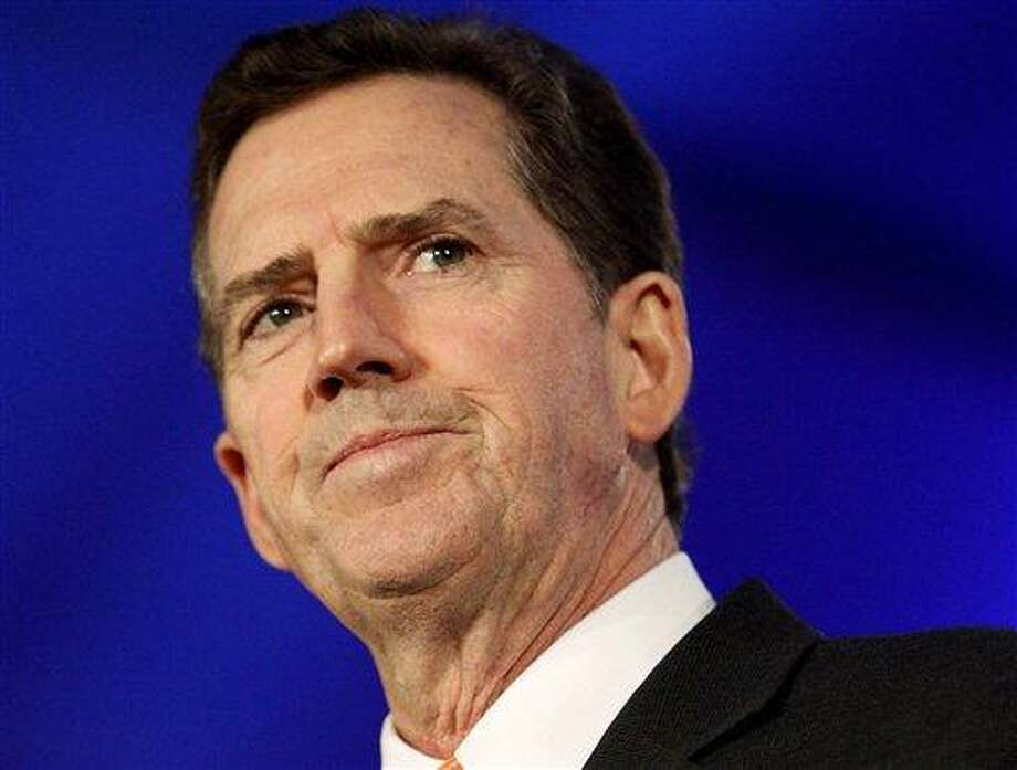 FILE - In this June 17, 2011 file photo, Sen. Jim DeMint, R-S.C. speaks in New Orleans. DeMint announced Thursday, Dec. 6, 2012  that he is resigning to take over at Heritage Foundation. (AP Photo/Patrick Semansky, File) Photo: AP / AP