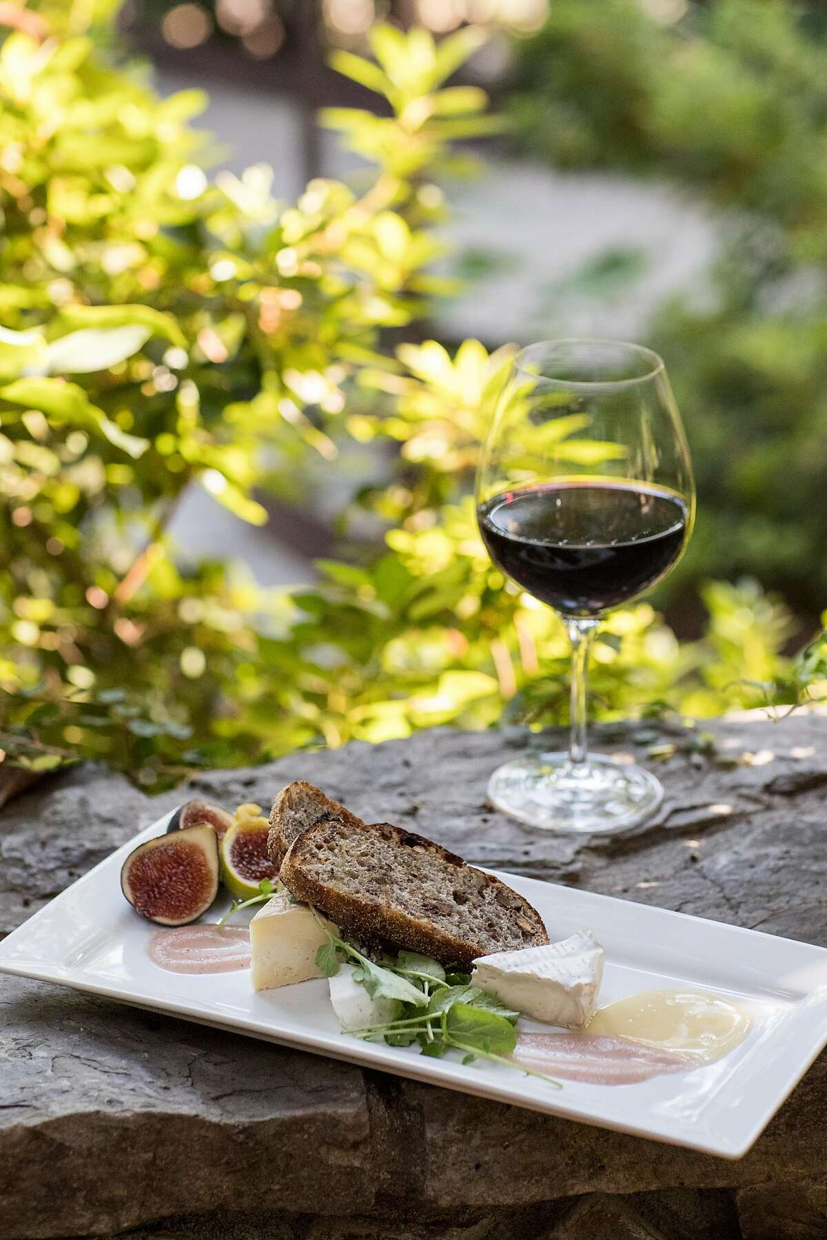 The artisan cheese plate with locally sourced figs and honey is seen at Towne House Restaurant at Wine & Roses in Lodi, Calif., on Saturday, August 19, 2017. The restaurant features innovative dishes that use quality seasonal and regionally sourced ingredients.