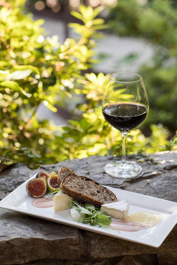 The artisan cheese plate at Towne House Restaurant at Wine & Roses has locally sourced figs and honey. Photo: Laura Morton, Special To The Chronicle