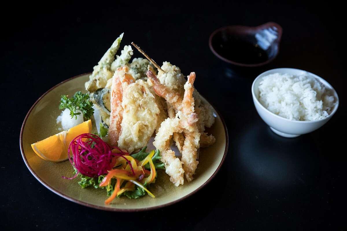 The mixed tempura dinner is seen at Sushi Komachi in Lodi, Calif., on Friday, August, 18, 2017. The restaurant serves classic and creative sushi rolls as well as traditional Japanese entrees.