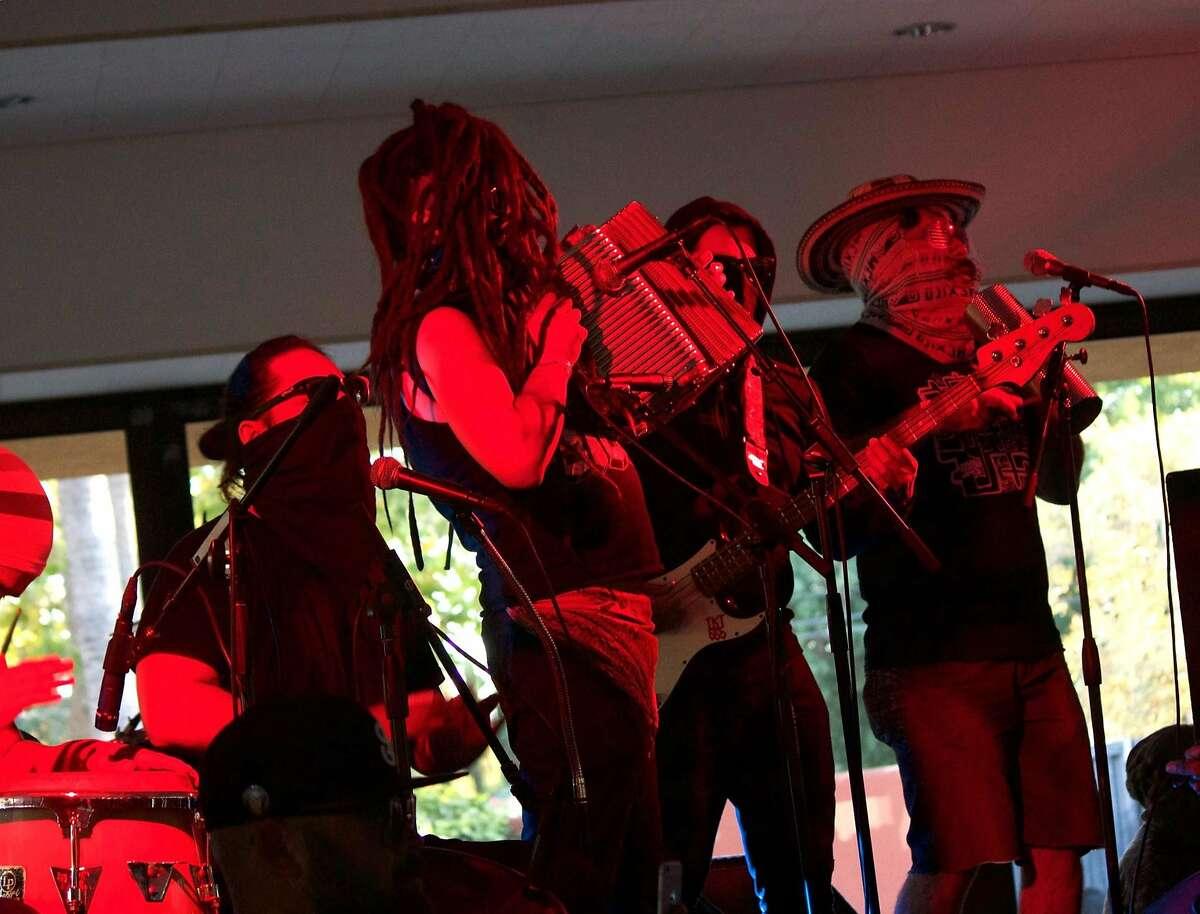 La Diabla, a cumbia band from Tijuana, performing at the 2016 Sonido Clash Music Festival in San Jose, CA.