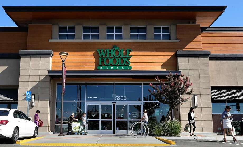 The new Whole Foods Market in Dublin and its sister stores worldwide are now officially subsidiaries of tech titan Amazon. Photo: Michael Macor, The Chronicle