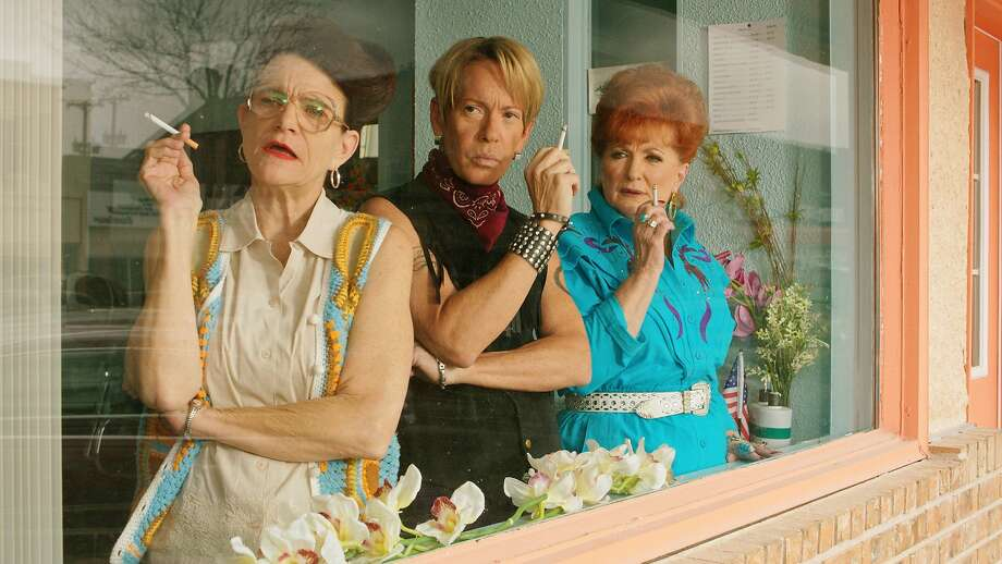 "Dale Dickey, Scott Presley and Ann Walker appear in the wacky LGBT film ""A Very Sordid Wedding"" from Del Shores. Photo: Beard Collins Shores Productions"