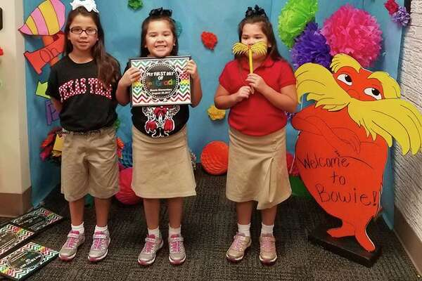 First day of school: Midland ISD       Alessandra, Samantha and Isabella --3rd grade