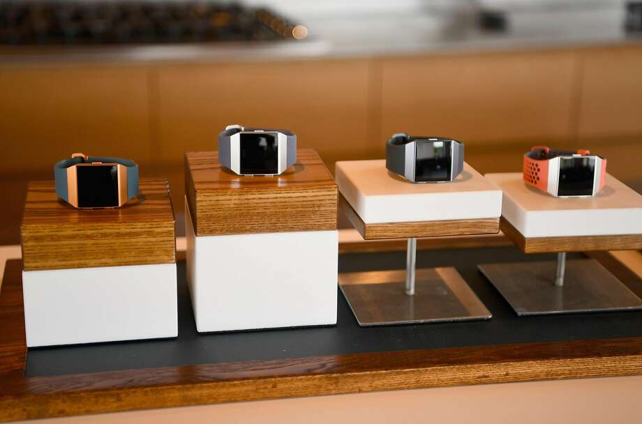 NEW YORK, NY - AUGUST 21:  A view of Fitbits on display at Fitbit Day 1 on August 21, 2017 in Montauk, New York. Fitbit introduced new products including its first ever smartwatch, Fitbit Ionic; Fitbit Flyer, the ultimate wireless headphones for fitness; Aria 2, a reengineered Wi-Fi Smart Scale, and new premium guidance and coaching services at today's event. Media got to experience the new products during workouts led by Fitbit ambassadors, including Harrison Barnes, Dean Karnazes, Harley Pasternak, Gabby Reece and Jens Voigt. (Photo by Dave Kotinsky/Getty Images) Photo: Dave Kotinsky, Getty Images
