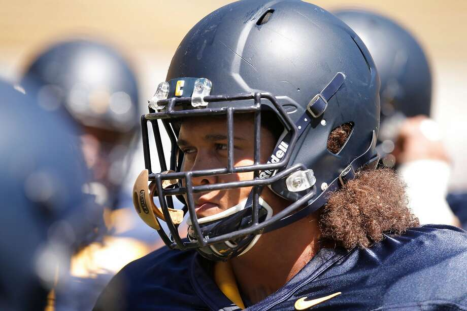 Cal Berkeley's defensive tackle James Looney, 9  during practice at Memorial Stadium in Berkeley, Calif., on Wed. August 12,  2015. Photo: Michael Macor, The Chronicle