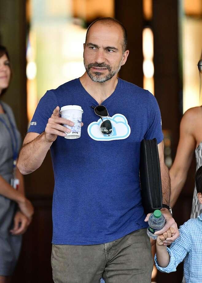Dara Khosrowshahi, CEO of Uber at Allen & Company Sun Valley Conference, USA - 11 Jul 2017. Photo: Rob Latour/Rex Shutterstock, TNS