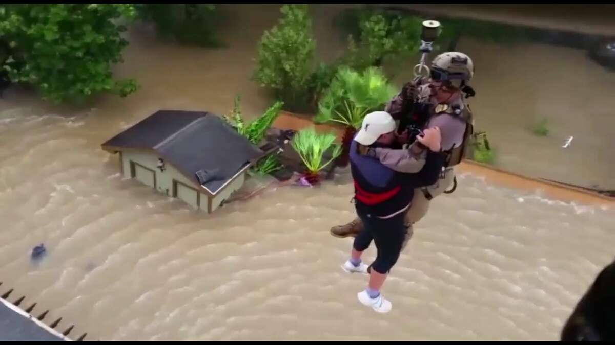 U.S. Customs and Border Protection's Air and Marine Operations brought a UH-60 Blackhawk Helicopter and crew torescue residents in areas flooded by Hurricane Harvey on August 28, 2017.