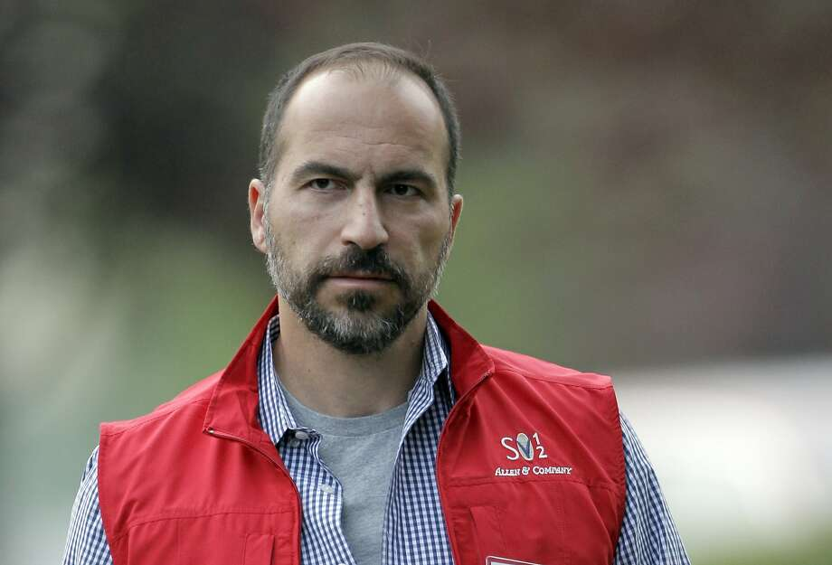 FILE- In this July 13, 2012, file photo, Dara Khosrowshahi the CEO of Expedia, Inc., attends the Allen & Company Sun Valley Conference in Sun Valley, Idaho. Two people briefed on the matter said Sunday, Aug. 27, 2017, that Khosrowshahi has been named CEO of ride-hailing giant Uber Technologies Inc. (AP Photo/Paul Sakuma, File) Photo: Paul Sakuma, Associated Press