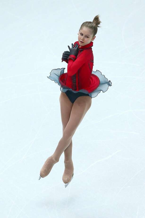 SOCHI, RUSSIA - FEBRUARY 09:  Yulia Lipnitskaya of Russia competes in the Team Ladies Free Skating during day two of the Sochi 2014 Winter Olympics at Iceberg Skating Palace onon February 9, 2014 in Sochi, Russia.  (Photo by Clive Mason/Getty Images) Photo: Clive Mason, Getty Images