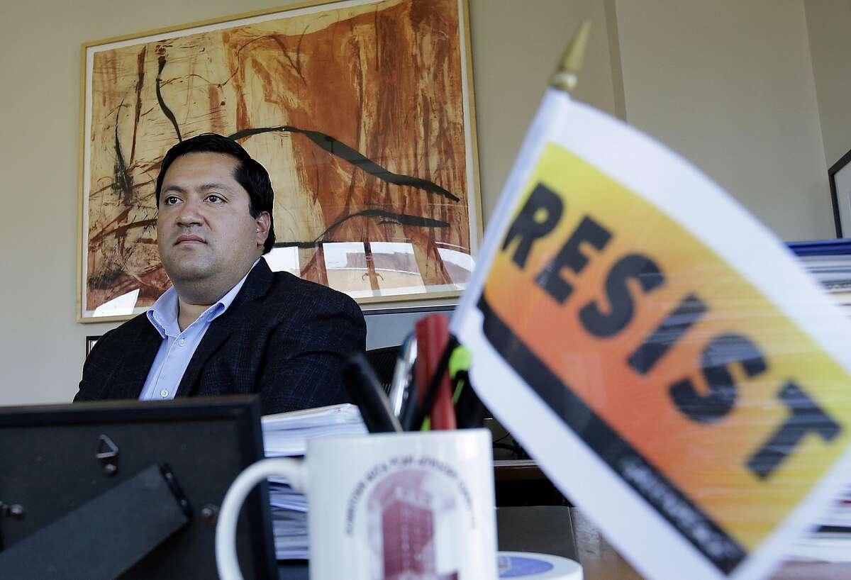 Berkeley Mayor Jesse Arreguin at his office in Berkeley on Aug. 28, 2017.