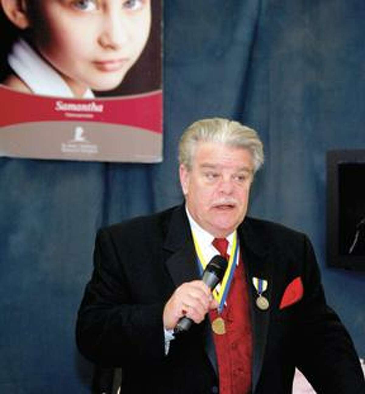 RONALD DEROSA/Register CitizenMichael Driscoll, who has run the St. Jude's Telethon since 1980, emcees the event on Sunday.