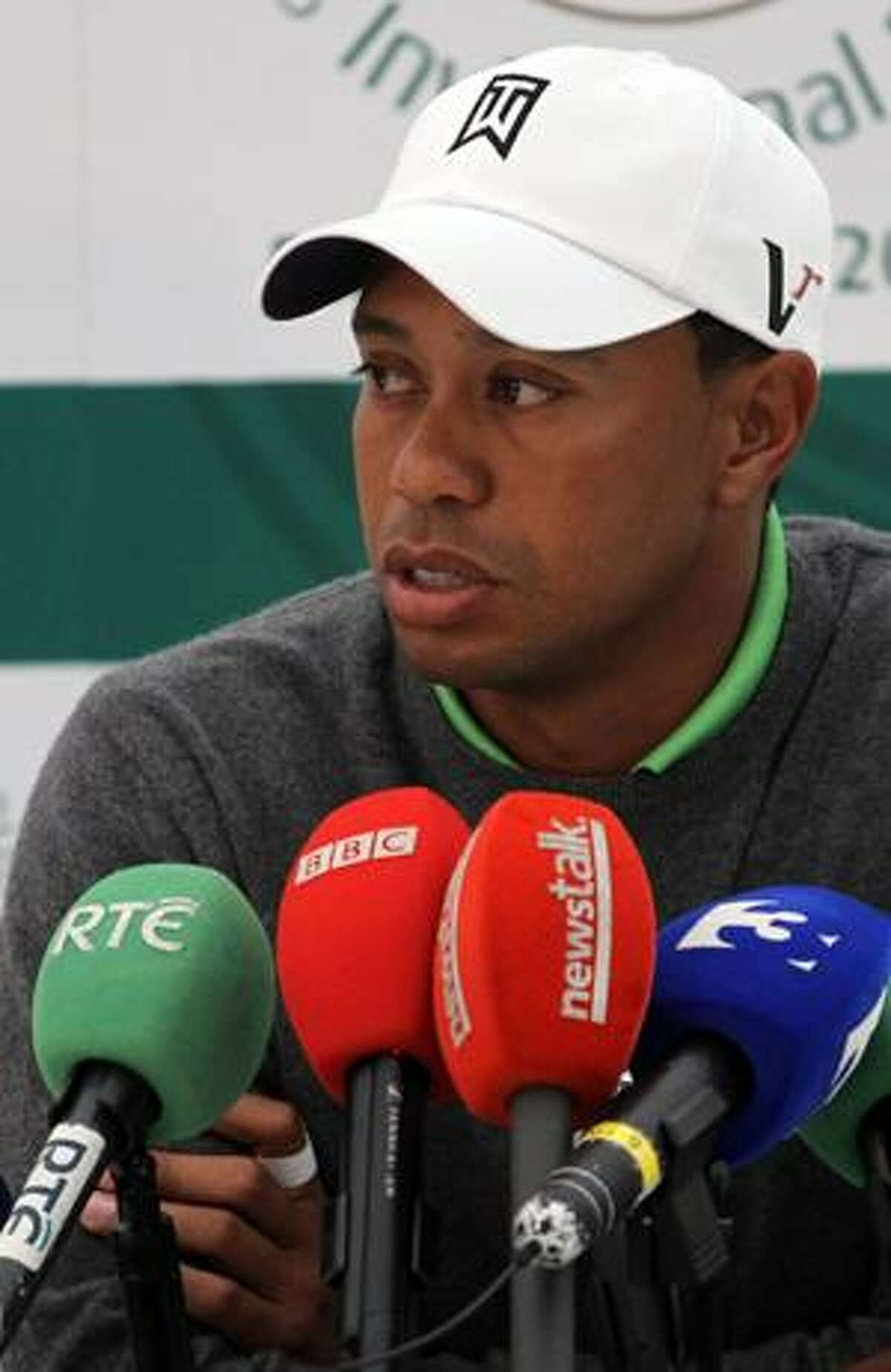 AP Tiger Woods speaks to the media after playing in the JP McManus Invitational Pro-Am at Adare Manor, Limerick, Ireland, Tuesday.
