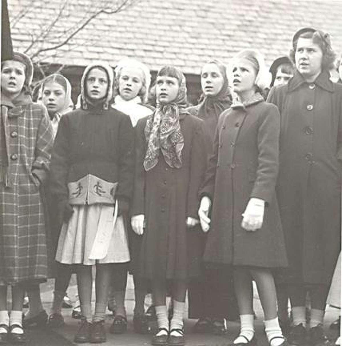 Children visit Christmas Village in Torrington in this 1952 file photo.