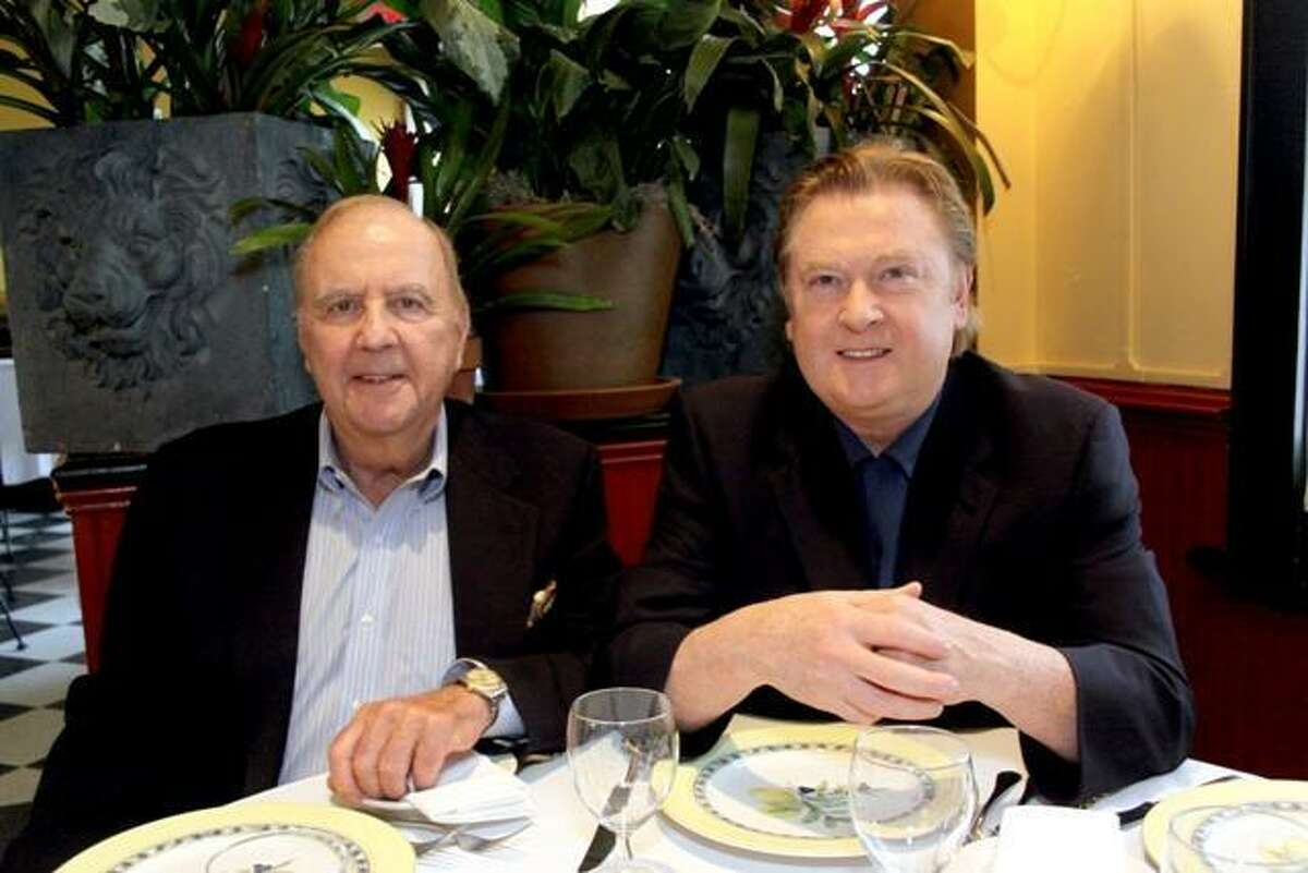 Owners James O'Shea, right, and Charles Kafferman at the West Street Grill in Litchfield, one of the winners in the new Connecticut Magazine reader's poll awards for restaurants.