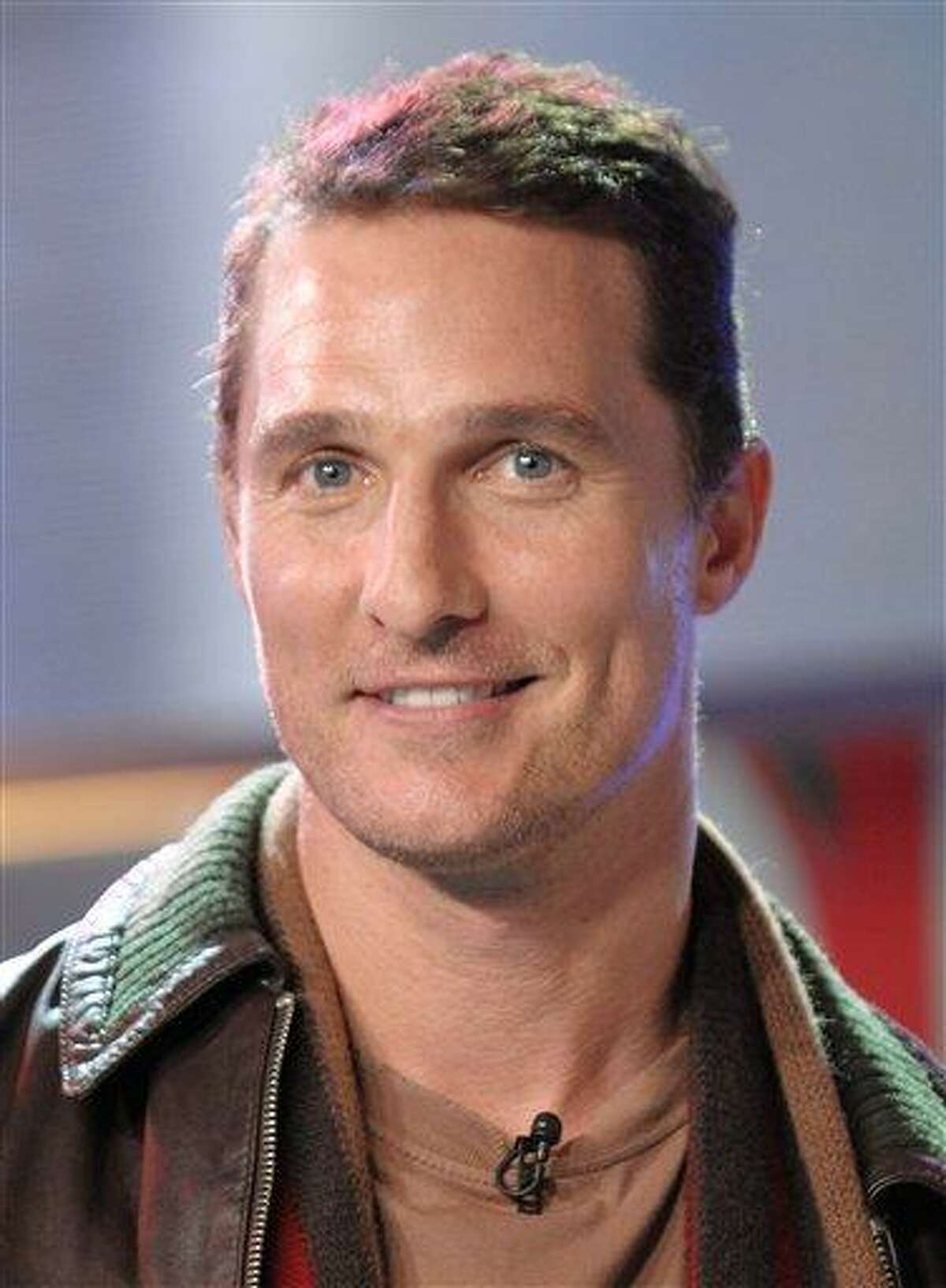 In this Feb. 5, 2008 photo, actor Matthew McConaughey makes an appearance on MTV's Total Request Live at MTV Studios, in New York. (AP Photo/Evan Agostini)