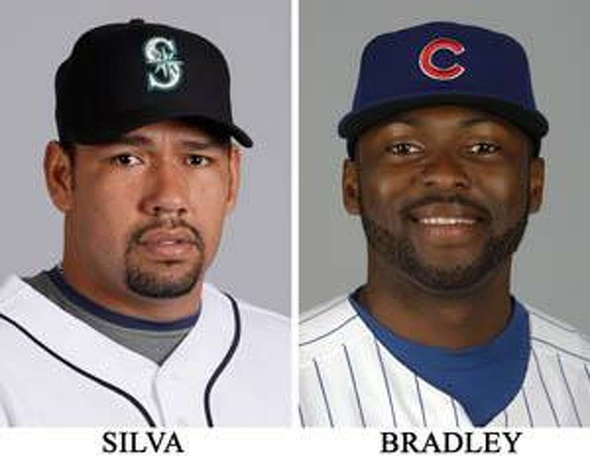 AP These are 2009 file photos showing Carlos Silva and Milton Bradley. A baseball official with knowledge of the trade says the Mariners have acquired mercurial outfielder Milton Bradley from the Chicago Cubs for expensive and underperforming pitcher Carlos Silva. The one-for-one deal was struck Friday morning.