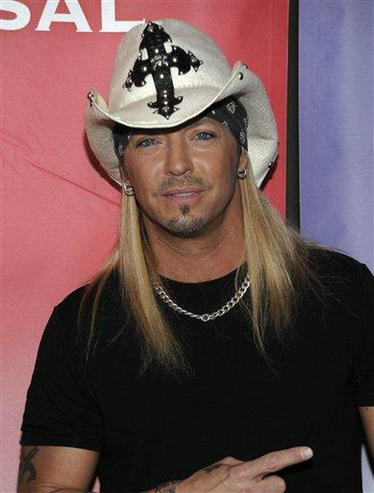 In this Jan. 10, 2010 photo Singer Bret Michaels arrives at the NBC Universal Winter 2010 press tour party in Pasadena, Calif.