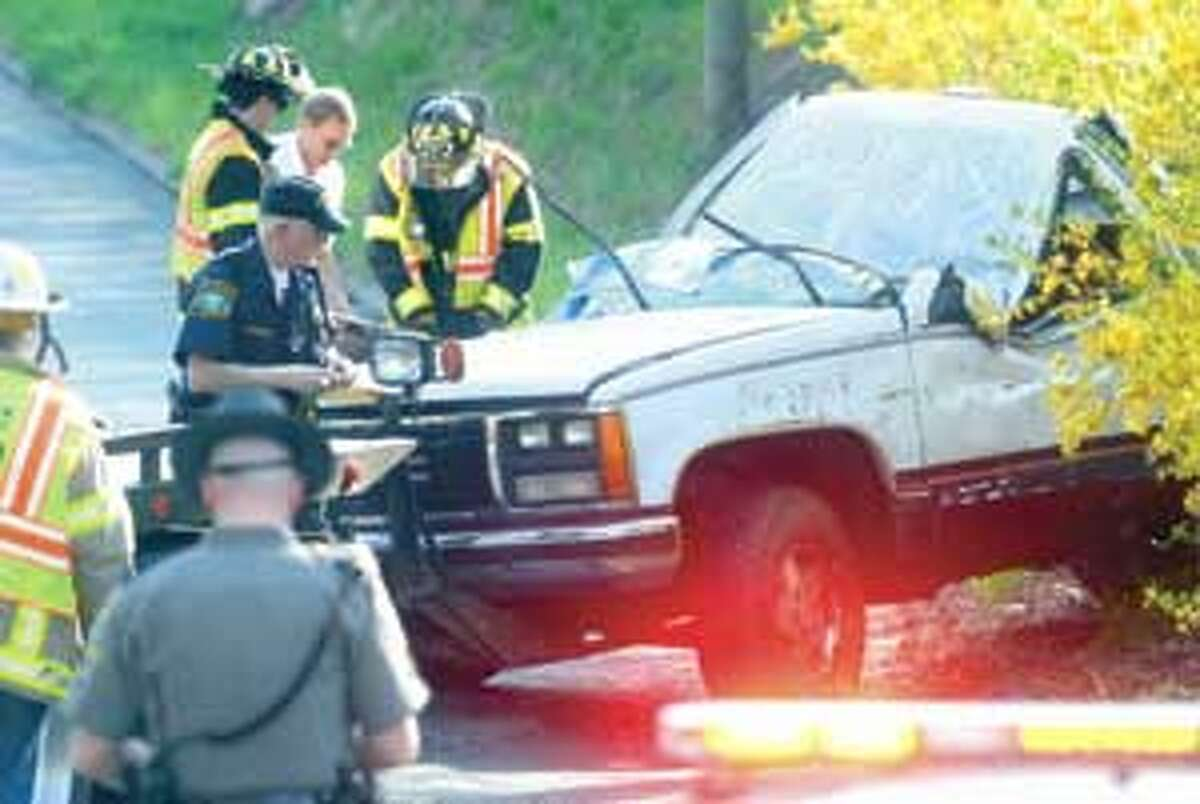 A two-vehicle accident closed a stretch of Niles Road in New Hartford on Thursday afternoon.