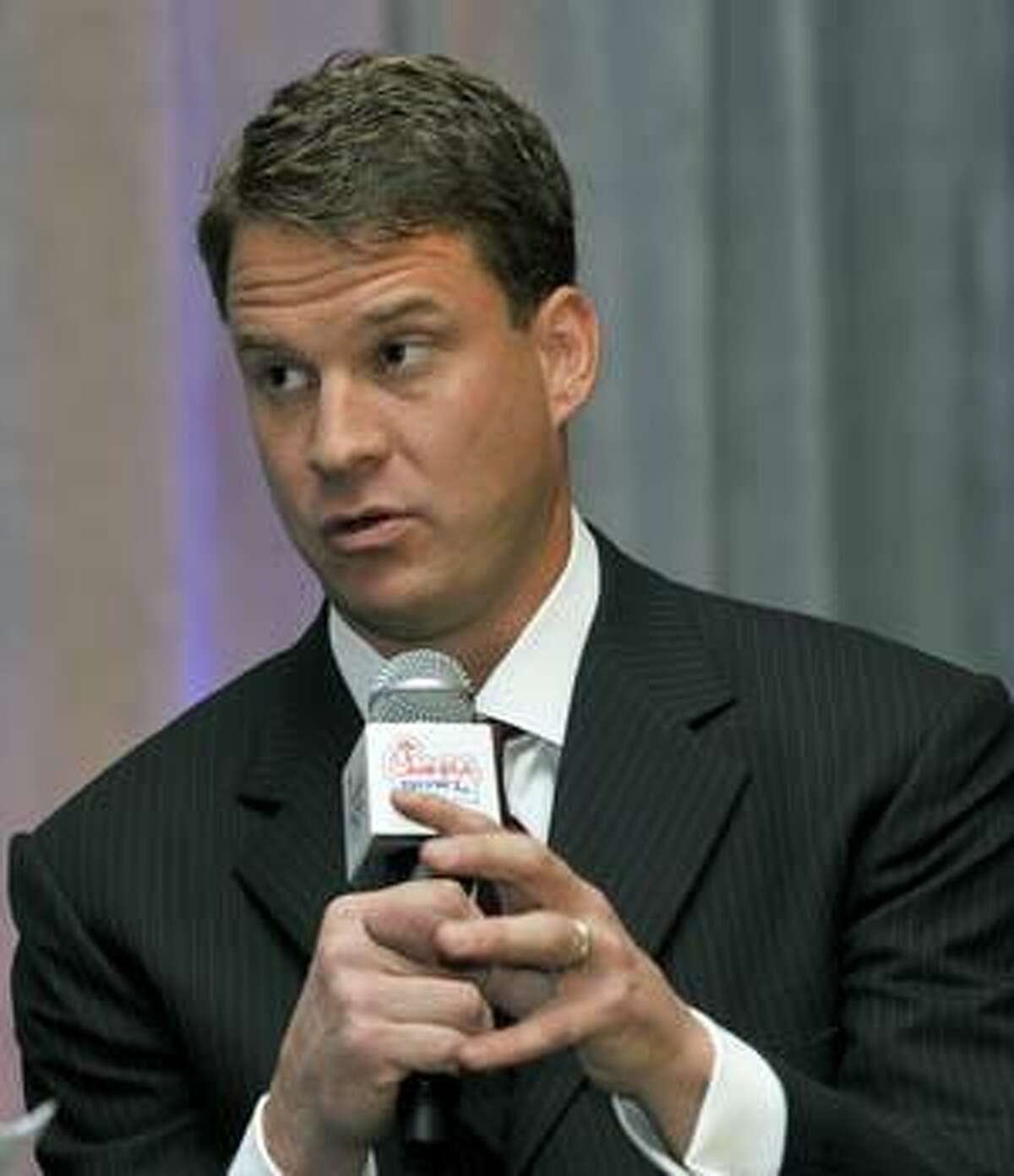AP Tennessee coach Lane Kiffin speaks during the Chick-fil-A Bowl coaches luncheon Thursday in Atlanta. Tennessee will face Virginia Tech at the 2009 Chick-fil-A Bowl.