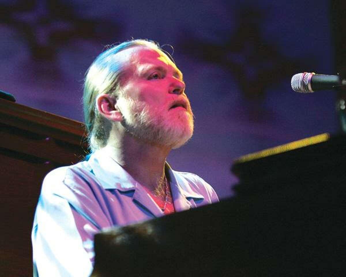 Keyboardist Gregg Allman of The Allman Brothers Band