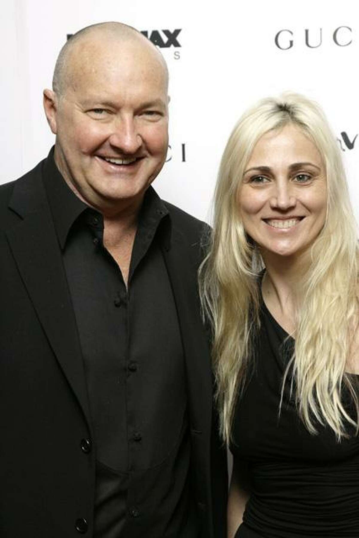 This Nov. 14, 2007, file photo shows actor Randy Quaid and his wife, Evi, arrive to a premiere in New York.