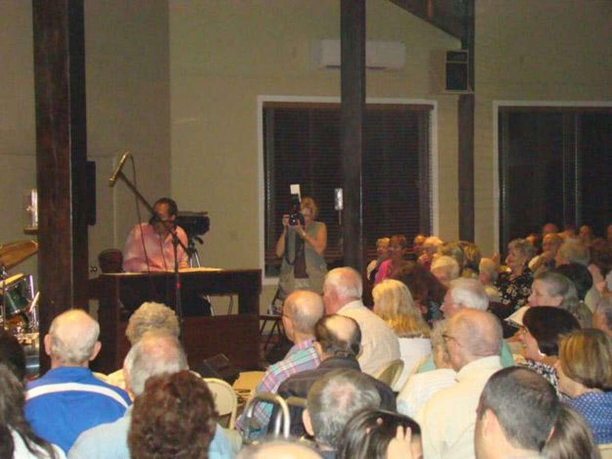 Audience members at Lakeridge in Torrington enjoy jazz music during the FODfest, a concert held in honor of journalist Daniel Pearl.