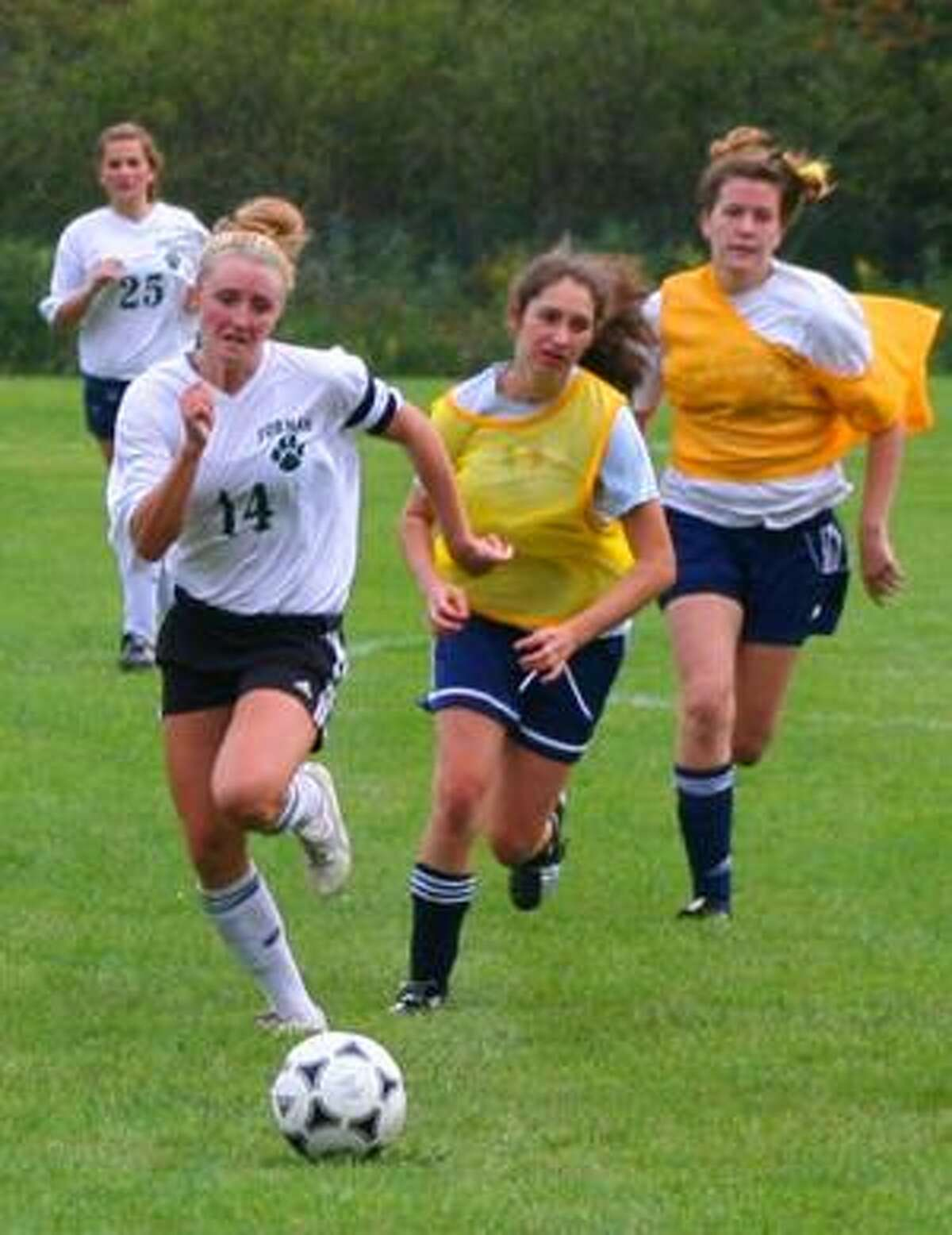 Submitted photo Lindsay Watkins (14) is a junior at the Forman School in Litchfield and has already given a verbal commitment to play at the University of Connecticut after graduation in 2011.