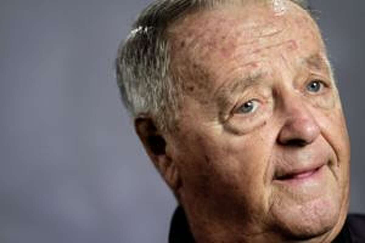 Former Florida State college football coach Bobby Bowden reacts during an interview in New York, Tuesday, Aug. 24, 2010. Bowden tells The Associated Press he was