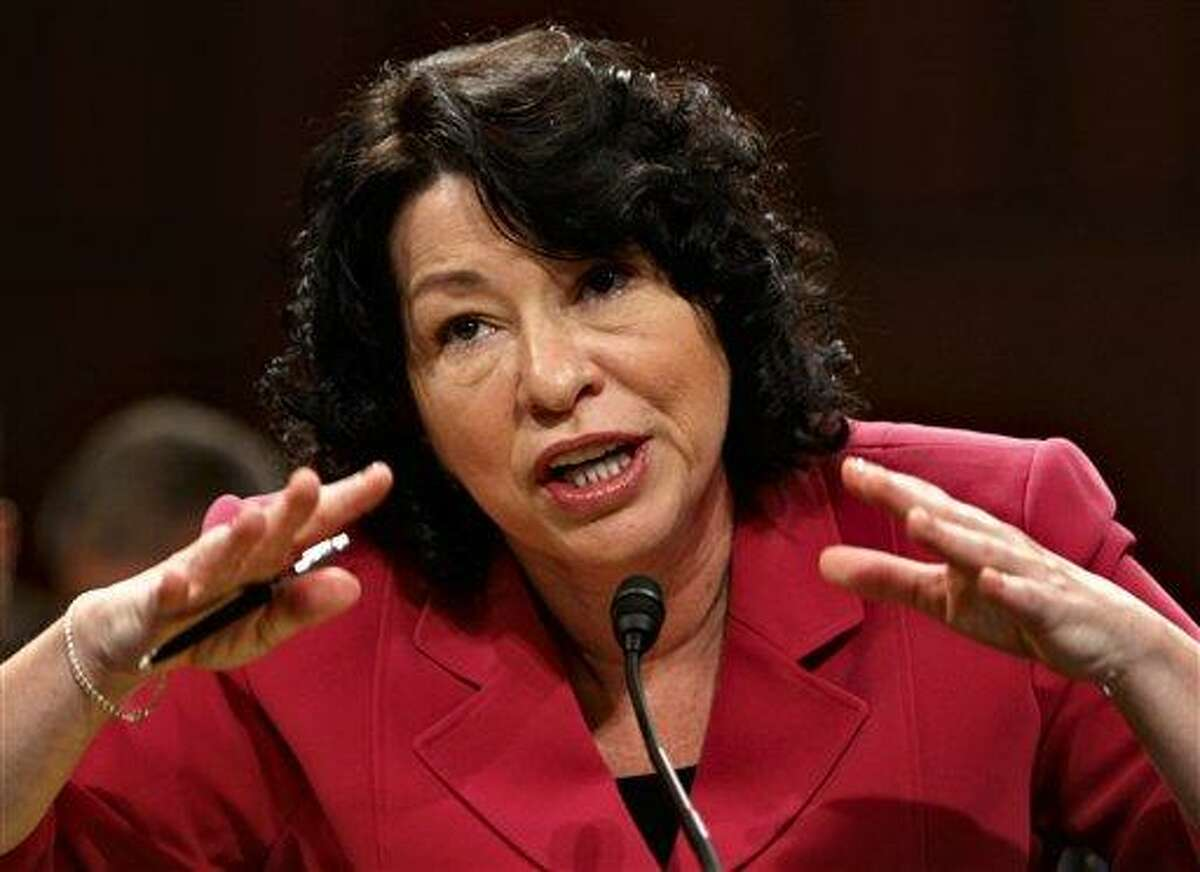 President Barack Obama's Supreme Court nominee, Sonia Sotomayor, appears before the Senate Judiciary Committee on the fourth day of her confirmation hearing, on Capitol Hill in Washington, Thursday, July 16, 2009. (AP Photo/J. Scott Applewhite)