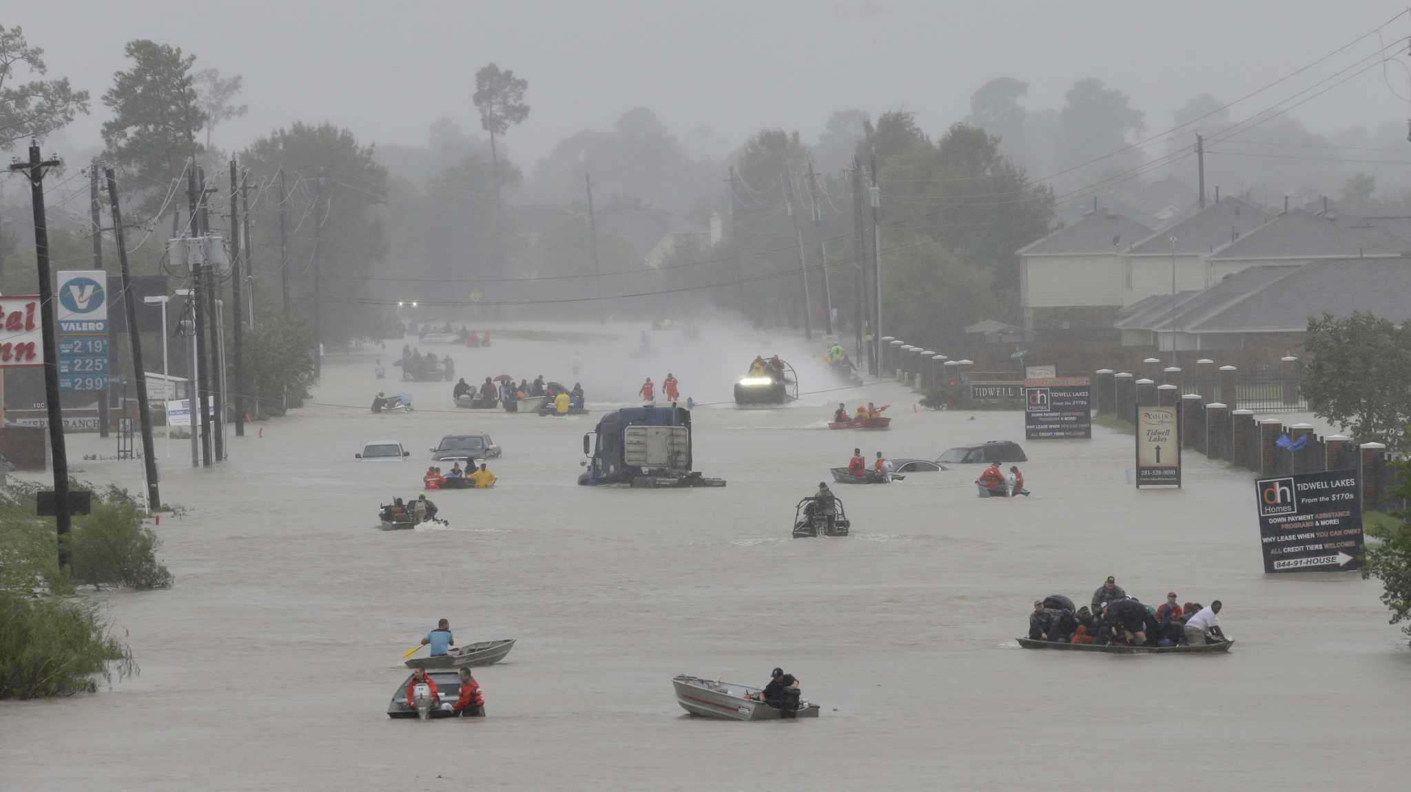 Tropical Storm Harvey unleashes