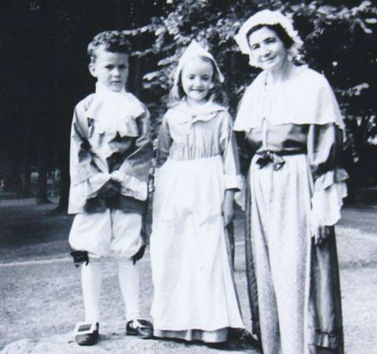 Photograph by Fran Kelsey. From left, Walter Green, Julianna Smith and Mrs. John Colby in 1939 at an event sponsored by the Sharon Woman's Club, marking the bicentennial of the town's founding.