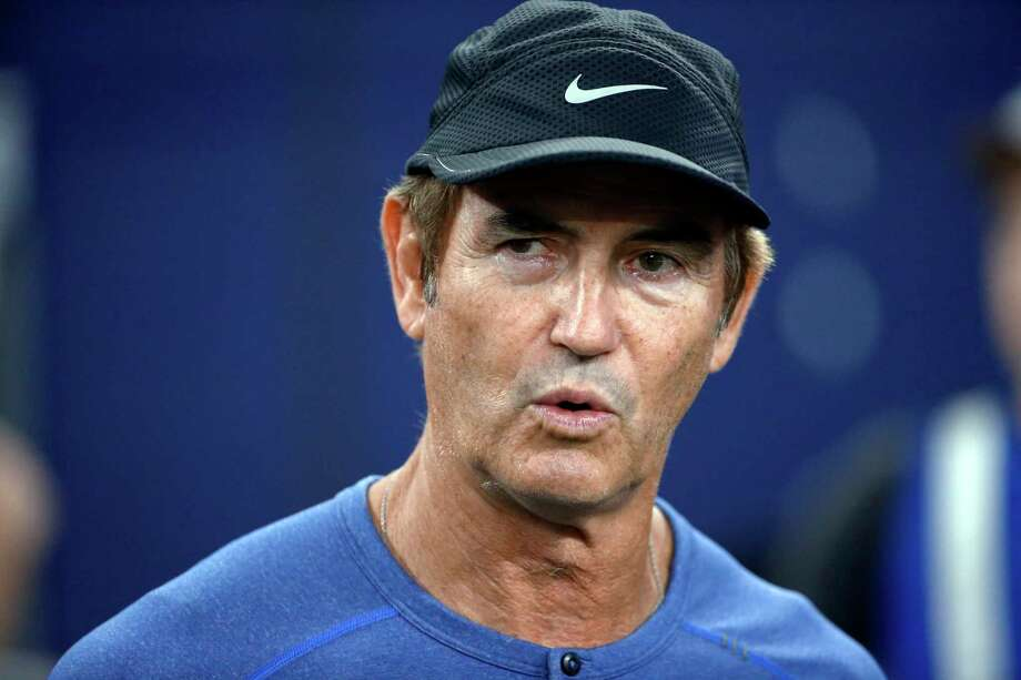 FILE - In this Sept. 25, 2016, file photo, former Baylor football coach Art Briles watches the Dallas Cowboys and the Chicago Bears warm up for an NFL football game in Arlington, Texas. The Hamilton Tiger-Cats of the Canadian Football League have hired former Baylor coach Art Briles to be an assistant. The team announced the move Monday, Aug. 28, 2017, via Twitter. (AP Photo/Ron Jenkins, File) Photo: Ron Jenkins, FRE / FR171331 AP