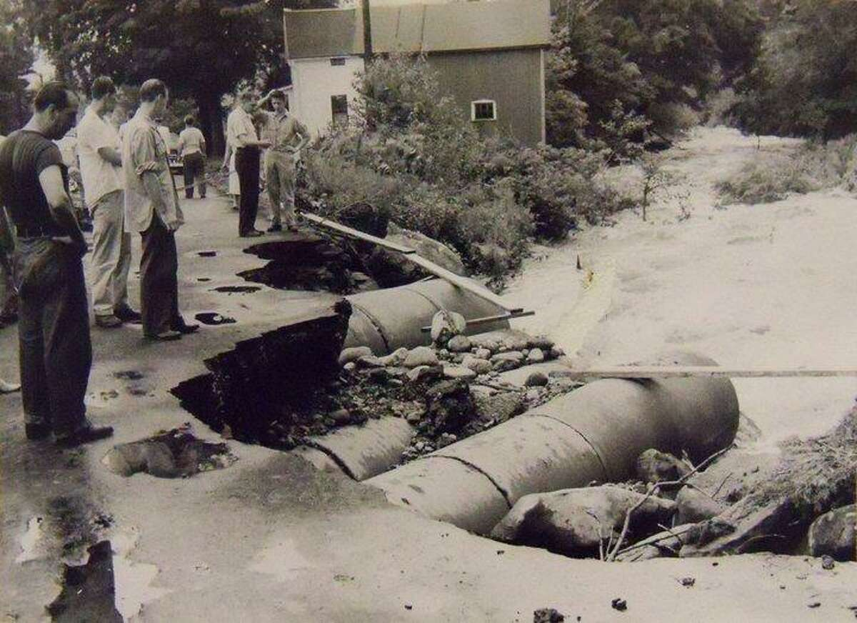 One of the photos from the archives of the Torrington Register and Winsted Evening Citizen on display at the new Register Citizen Newsroom Cafe at 59 Field Street and part of an interactive map and photo gallery on RegisterCitizen.Com.