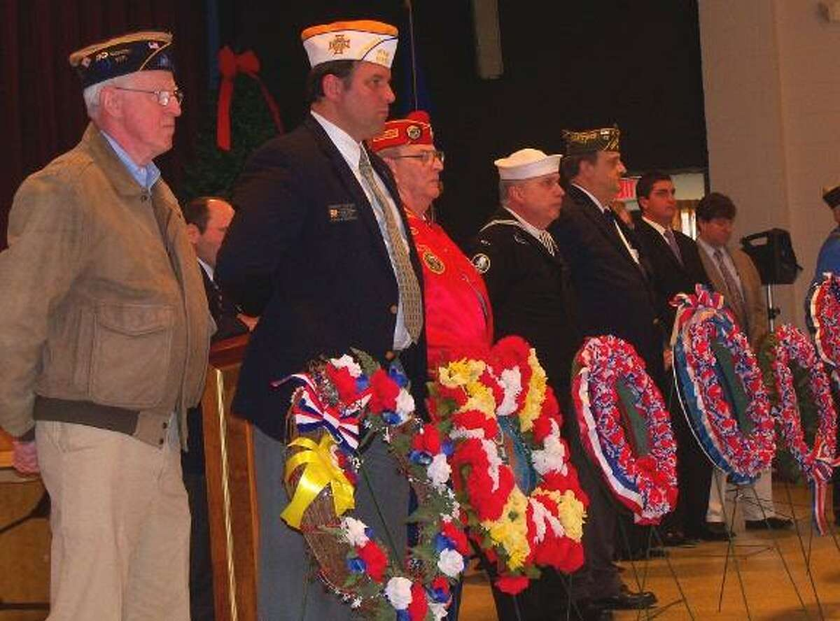 Veterans groups remembered Pearl Harbor Day with a ceremony at Coe Memorial Park on Tuesday.