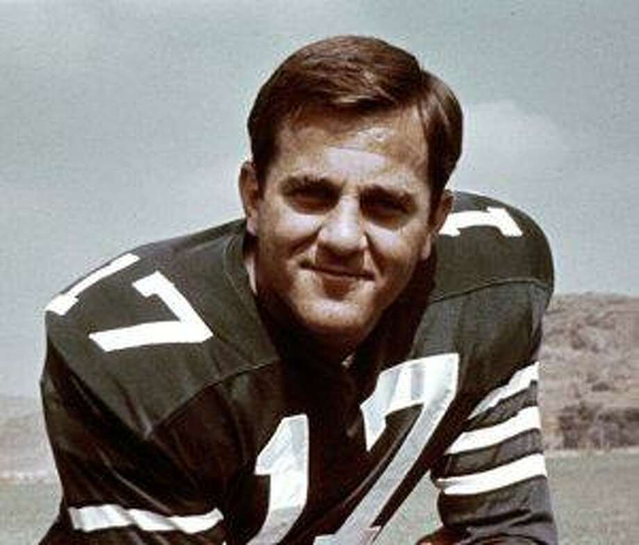 """AP This 1966 handout provided by the NFL shows Dallas Cowboys quarterback Don Meredith. Meredith, one of the most recognizable figures of the early Dallas Cowboys and an original member of ABC's """"Monday Night Football"""" broadcast team, died Sunday in New Mexico. He was 72."""