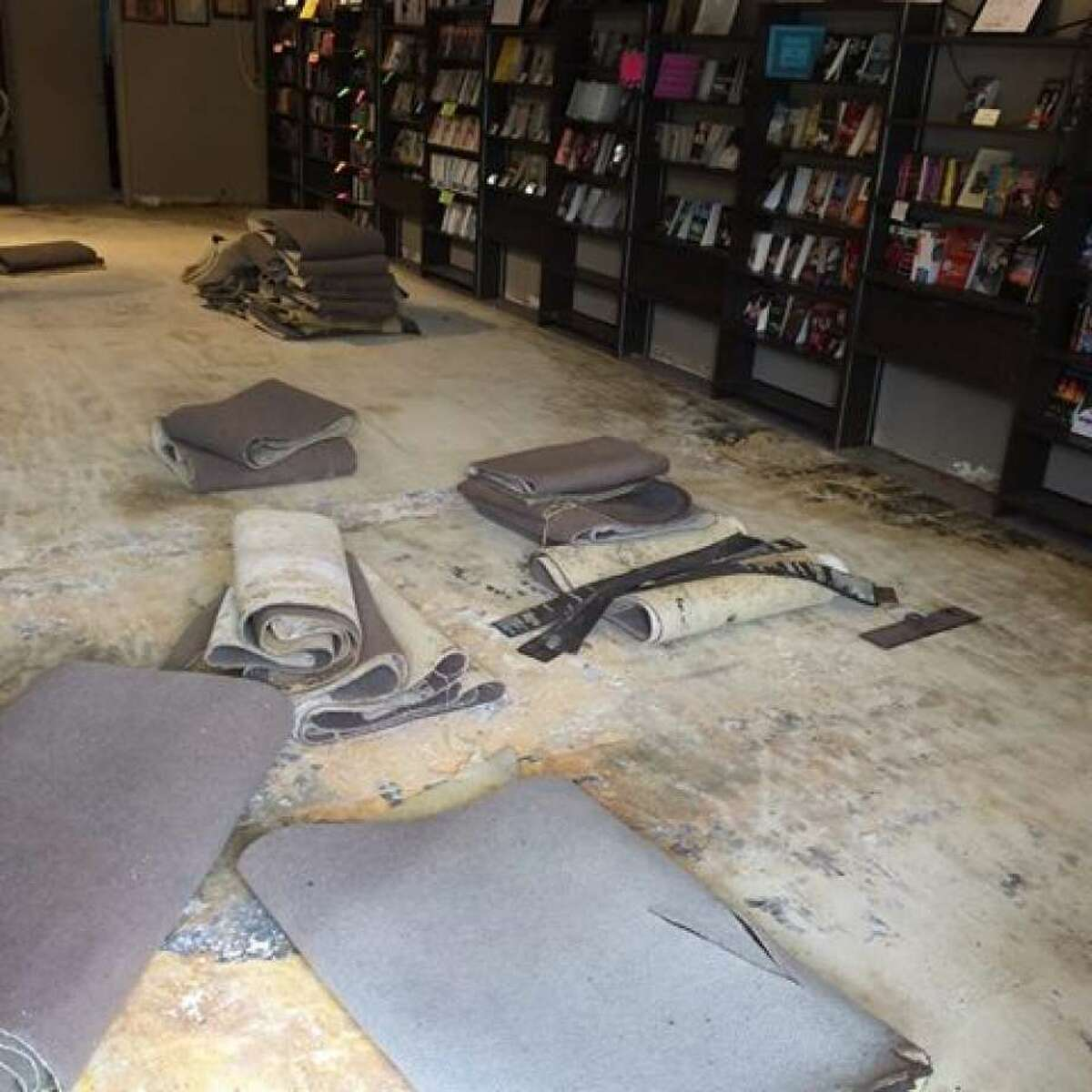 The store was heavily damaged in the Tax Day floods of 2016.