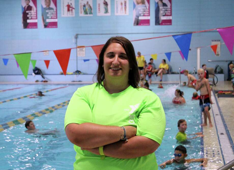 samantha lusher new aquatics director at wilton ymca photo stephanie kim hearst - Aquatic Director Jobs