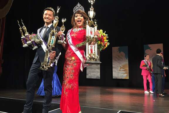Danny Chung, Mister GAPA 2017, and co-Miss GAPA 2017 Mimi Osa at the Herbst Theatre.