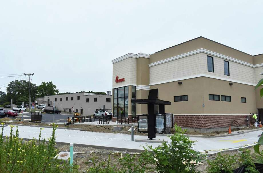 467 Connecticut Ave. — As Popeye's Louisiana Kitchen wraps up staff training in late August 2017 for its new Connecticut Avenue restaurant in Norwalk, Conn., construction nears completion for Chick-fil-A a short distance east at 467 Connecticut Ave. Chick-fil-A is anchoring a retail development that replaces the former home of Cook's Nook which relocated to Wilton. Photo: Alexander Soule / Hearst Connecticut Media / Stamford Advocate