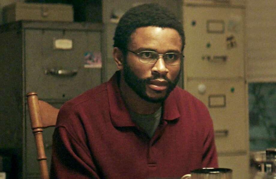 "Nnamdi Asomugha, former Oakland Raider, plays Carl ""K.C."" King, Warner's best friend who helps keep the case alive. Photo: Amazon Studios-IFC"