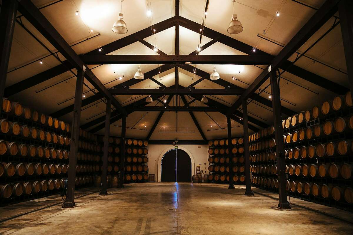 Folktale Winery and Vineyards barrels room, where small concert and events are held, in Carmel, Calif. Thursday, August 24, 2017.