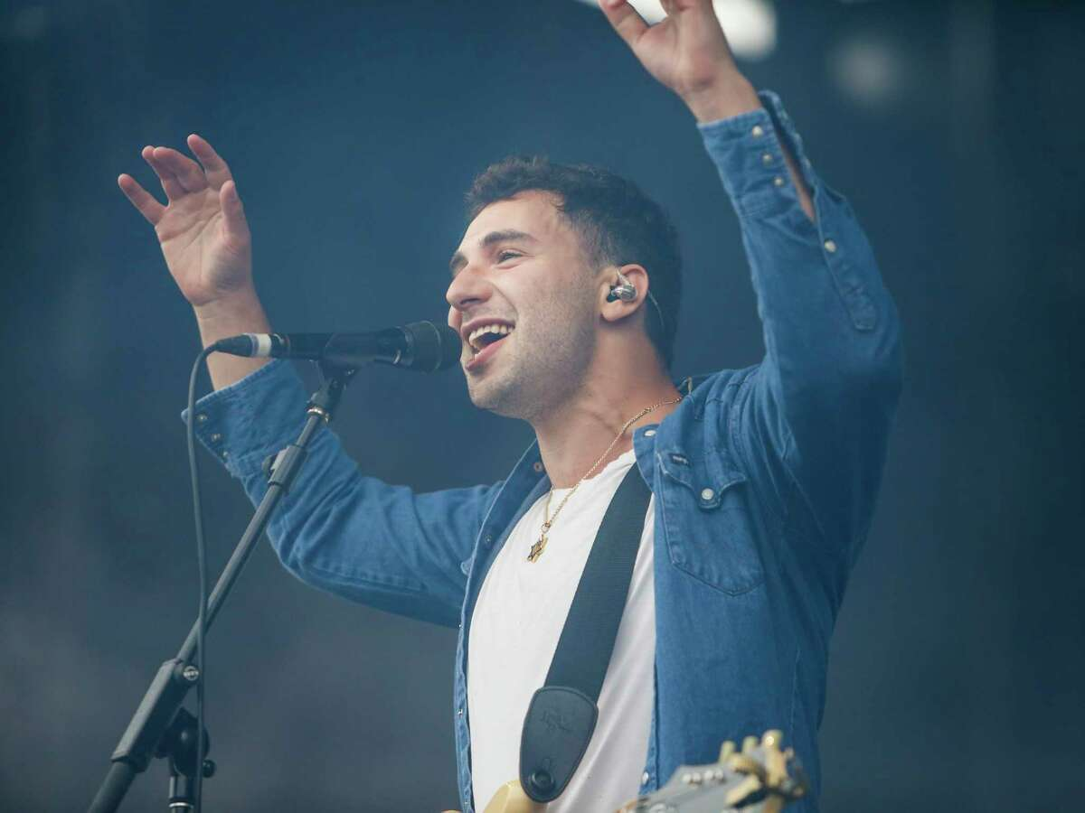 Jack Antonoff, lead singer of Bleachers, performs on the Lands End Stage during the 10th annual Outside Lands Festival in Golden Gate Park in San Francisco on Sunday, August 13, 2017.