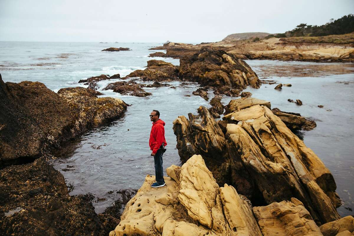 Aychi Beyene, looks out on the water on Weston Beach in Point Lobos State Natural Reserve in Carmel, Calif. Thursday, August 24, 2017.