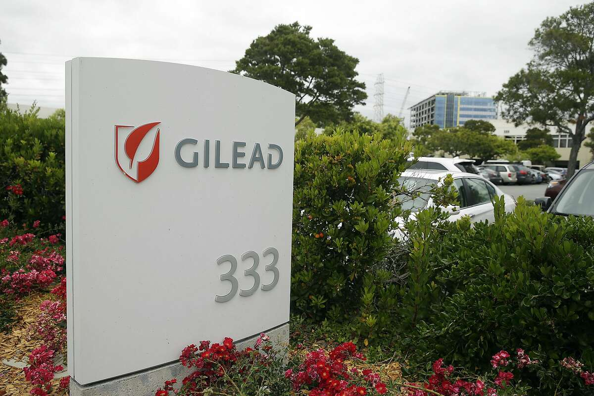FILE - This Thursday, July 9, 2015, file photo shows the headquarters of Gilead Sciences in Foster City, Calif. Gilead Sciences will pay $11.9 billion in cash to buy Kite Pharma and plant a stake in an emerging area of cancer treatments that train a patient�s immune cells to attack tumors. Kite�s portfolio of potential treatments includes one for some forms of the blood cancer lymphoma that could receive U.S. regulatory approval later in 2017. (AP Photo/Eric Risberg, File)
